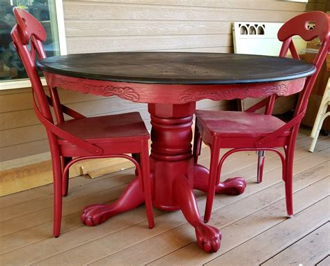 painted table and chairs painted and glazed clawfoot pedestal oak dining