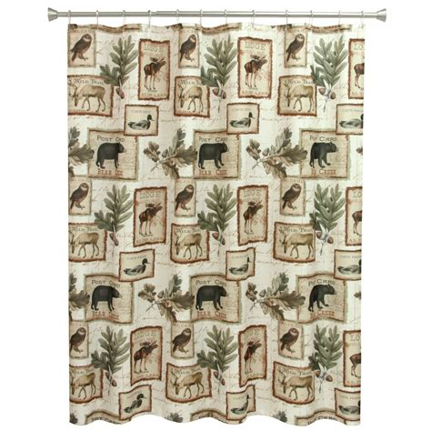 Lodge Shower Curtains Lake Lodge Shower Curtain