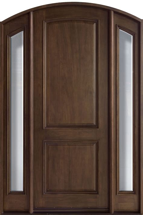 mahogany front entry door entry door in stock single with 2 sidelites solid wood with walnut finish frenchcollection