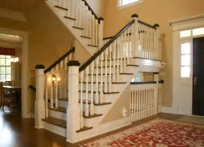 New Staircase New Farmhouse Stairwell And Front Entry Traditional
