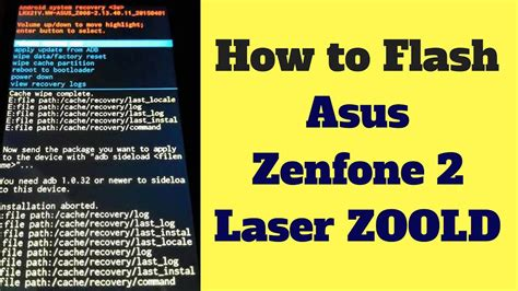 how to flash upgrade asus zenfone go x014d via sd card firmware how to flash asus zenfone 2 laser zoold update with sd