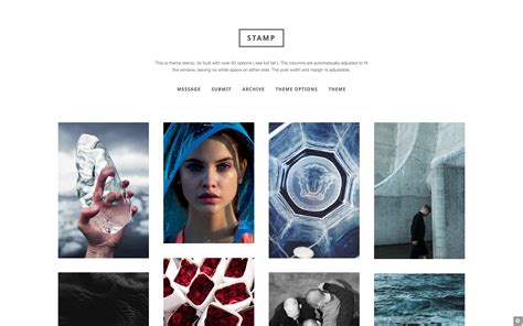 tumblr themes two column infinite scroll st versatile minimal grid template zen themes