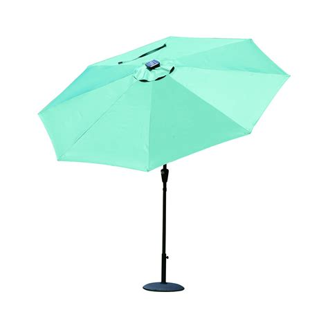 Patio Umbrella Clearance Sale Outsunny 9 Solar Led Market Patio Umbrella W Bluetooth Green April 10 Clearance