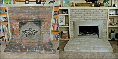 paint  brick fireplace brick anew fireplace