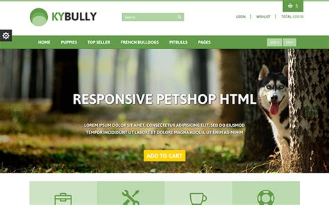 themes bootstrap pets kybully pet store ecommerce html theme wrapbootstrap