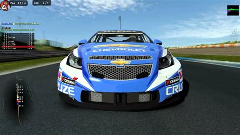 rfactor  chevrolet cruze wtcc cup  portugal youtube
