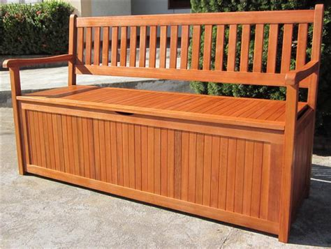 Garden Storage Bench Hardwood Wooden Garden Storage Bench 2 And 3 Seater Wood Bench Outdoor Patio Ebay