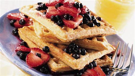 fruit waffles fruit topped whole grain waffles recipe pillsbury