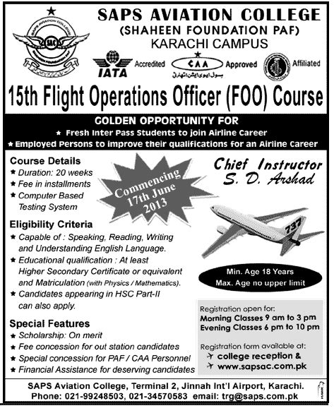 Mba In Aviation Management In Pakistan by Education Portal May 2013