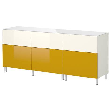 besta yellow doors best 197 combi rgt portes tiroirs blanc tofta brillant