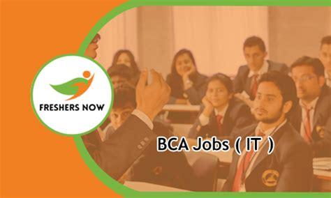 bca career bca jobs 2018 2019 for freshers apply online 5499