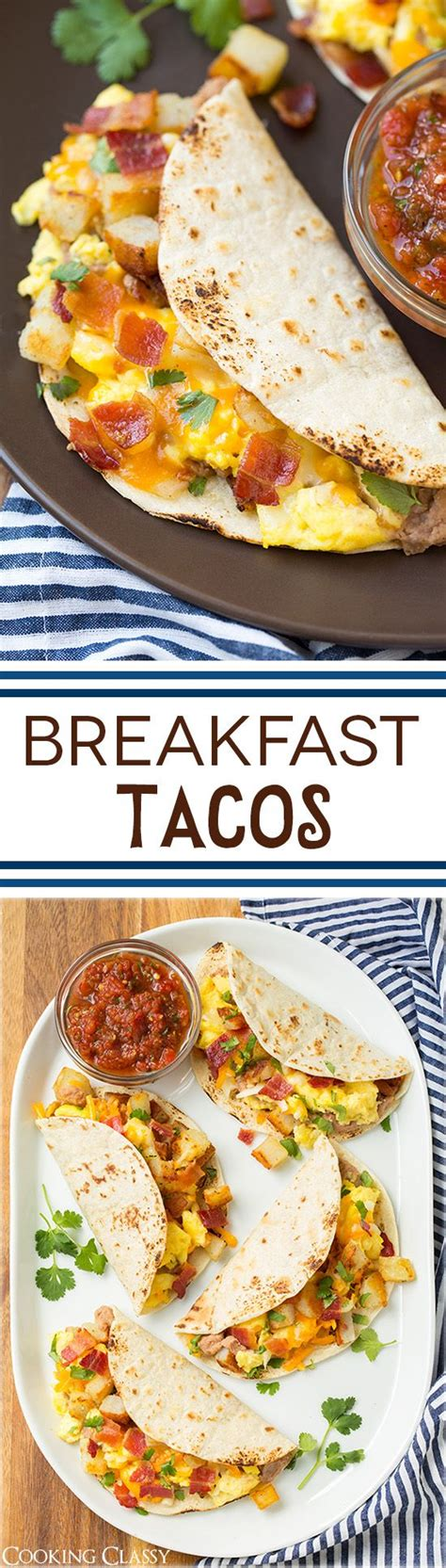 comfort food breakfast breakfast tacos with fire roasted tomato salsa