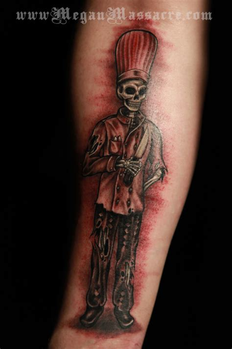 skull chef tattoo