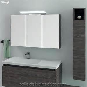 armoire porte en miroir meuble de salle de bains de 100cm