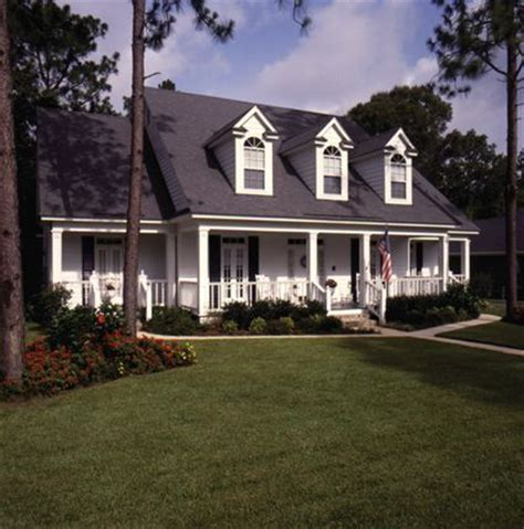 Spacious 4 Bedroom Country Home With Large Front And Rear Country Home Plans With Covered Porches