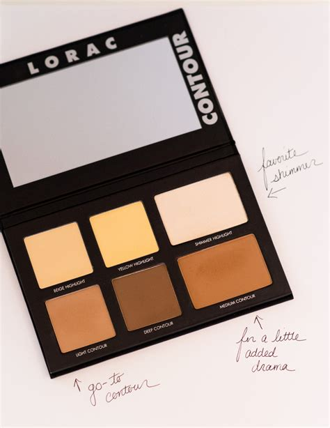 Lorac Cosmetic Pro Contour Pallete contouring with lorac the a list
