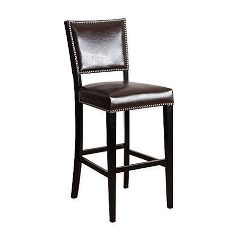 napa bar stool buy abbyson living 174 napa barstool in brown from bed bath beyond