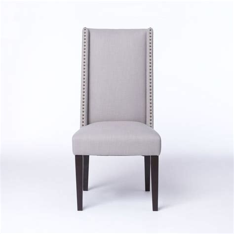 nailhead dining chair grey willoughby nailhead dining chair west elm furniture