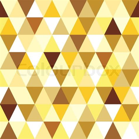 Triangle Pattern Vector Tutorial | abstract gold seamless triangle pattern stock vector