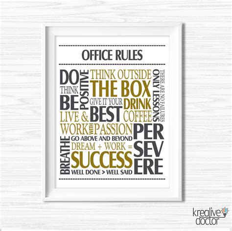 free printable office quotes office wall art motivational wall decor inspirational quote