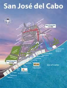 San Jose Del Cabo Map by Baja Mexico Maps Baja Real Estate Baja Properties