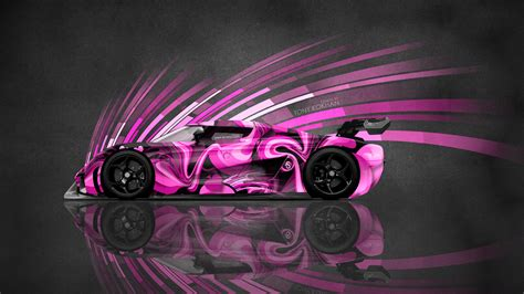 koenigsegg pink 4k koenigsegg regera side super abstract aerography car