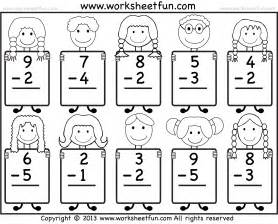 free coloring pages of kindergarten subtraction
