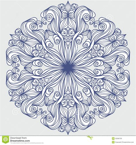 design art line design element round pattern stock vector image 33266730