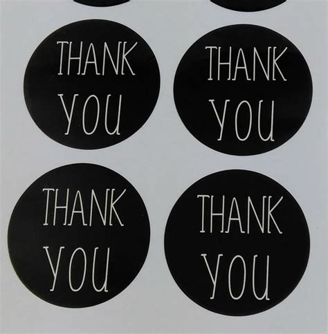 Paper Tags Sticker Thank You free shipping 100pcs lot thank you sticker labels black paper sticker labels diameter 3cm for