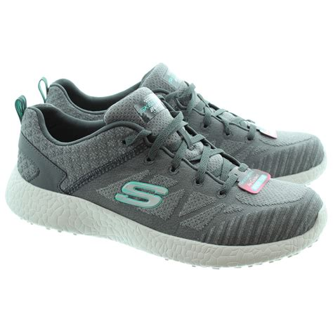 Skechers Memory Foam skechers 12433 memory foam lace trainers in charcoal in