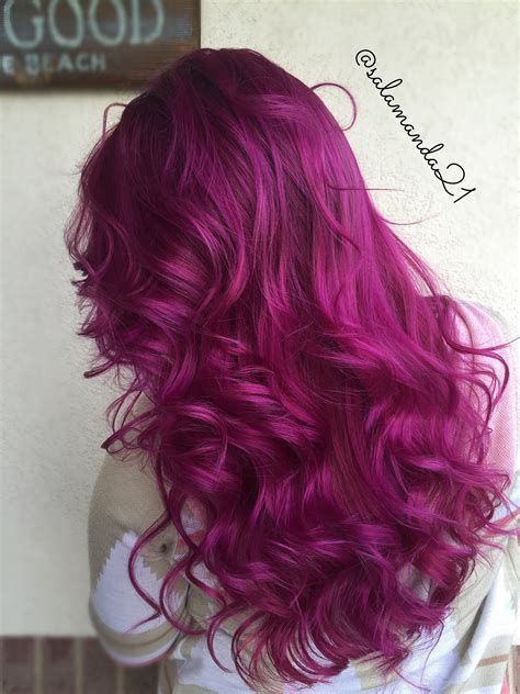 middle aged women who dye their hair magenta red pink purple magenta arctic fox color done by manda