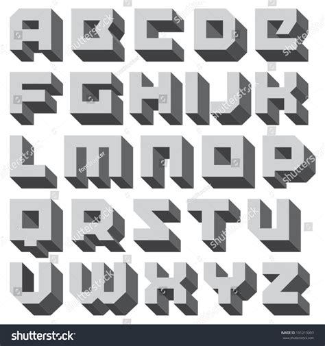 decorative block letters font block decorative letters vector geometric font square