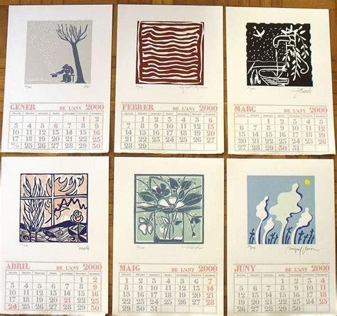 Calendario Ano 2000 Calendario A 241 O 2000 Ilustrado Por 12 Artistas