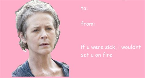 Walking Dead Valentines Day Meme - enjoy walking dead rick grimes carol peletier carl grimes