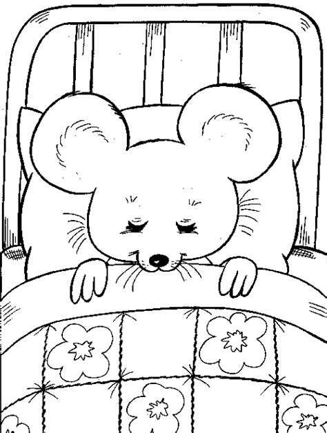 Sleeping Mouse Coloring Page | mouse sleeping familycorner com 174