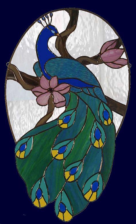 pedir cadenas en c stained glass peacock panel diy y manualidades