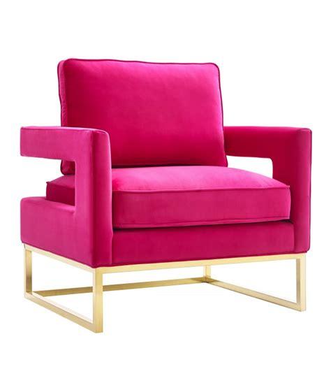 Fuschia Accent Chair by Pink Fuschia Velvet Gold Legs Lounge Chair