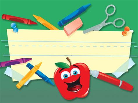 School Supplies Schools And Templates On Pinterest Free Powerpoint Template For Teachers