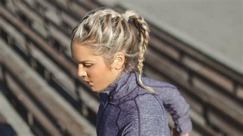 easy simple workout hairstyles  glam   gym