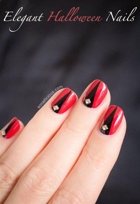 tutorial nail art elegant halloween nail art tutorial ii elegant halloween nails