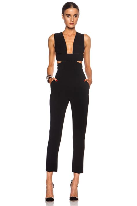 Stella Mccartney Care by Stella Mccartney Cut Out Rayon Blend Jumpsuit In Black Fwrd