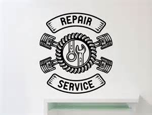 Awesome Wall Murals repair service wall sticker car workshop logo auto service