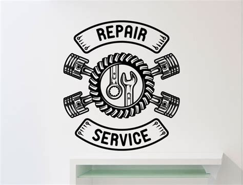 Welcome Home Decoration repair service wall sticker car workshop logo auto service
