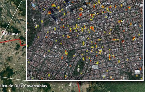 imagenes satelitales ciudad de mexico nasa entrega a m 233 xico mapa satelital de zonas da 241 adas por