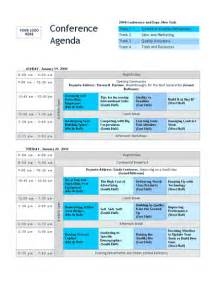 conference meeting agenda template conference track agenda template word templates