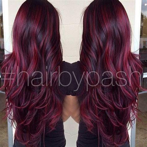 burgundy hair color with highlights 17 best ideas about burgundy hair highlights on