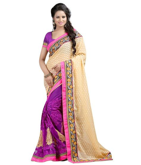 indian buying house indian house purple net saree buy indian house purple net saree online at low price