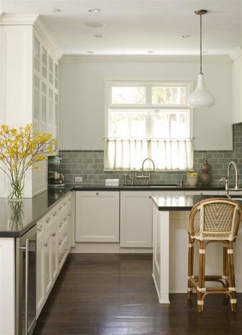 green subway tile kitchen backsplash green subway tile backsplash cottage kitchen studio william hefner