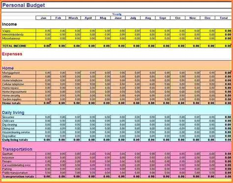 Budget Calculator Excel Spreadsheet by 6 Excel Budget Spreadsheet Templates Excel Spreadsheets