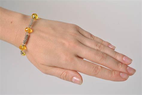 Handmade Wrist - madeheart gt handmade designer wrist bracelet with yellow